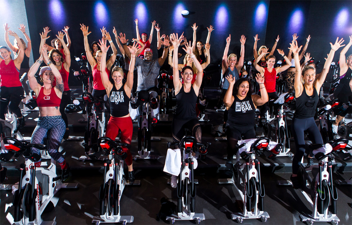 Premium spin class cycling franchise